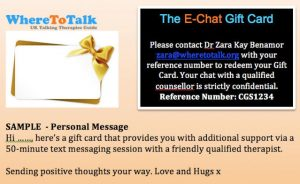 Counselling Gift Cards For a Loved One!